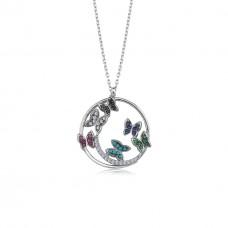 Bahar Kelebekleri Gümüş Kolye