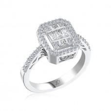 Effective Diamond Avangarde Baget Tektaş Gümüş Yüzük