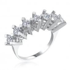 Effective Diamond St. Kraltacı Yeditaş Gümüş Yüzük